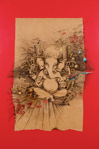 Detailled ball point pen Ganesha art