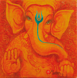 Ganesha-in-dark-red-turquoise