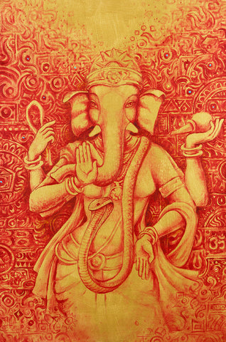 Female elephant goddess Hindu art