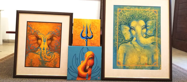 paintings at the Ganeshism Colombo gallery