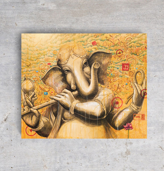 Lord-Ganesh-with-Flute-I-golden-color-full