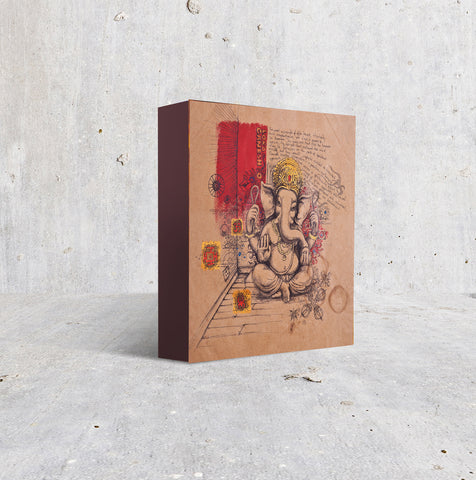 Sitting Ganesh on Brown paper