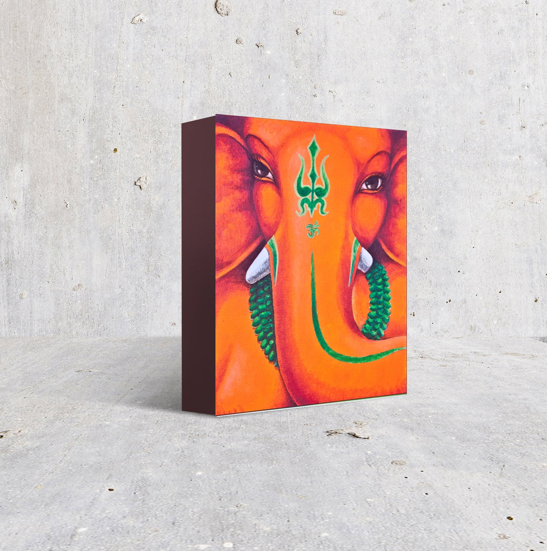2- Reproduction on small box frame - Moods in Orange and Green