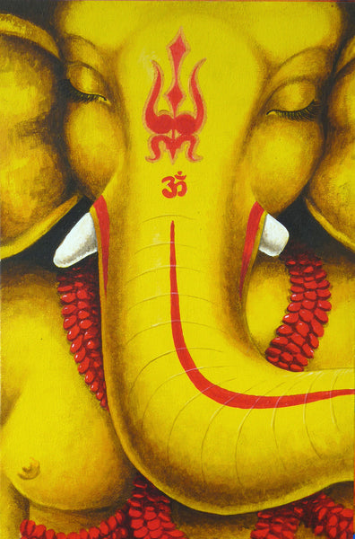 full ganesha painted face conscious