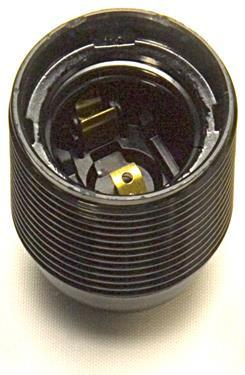 05166 - Continental Lampholder 10mm ES Threaded Black - LampFix - sparks-warehouse