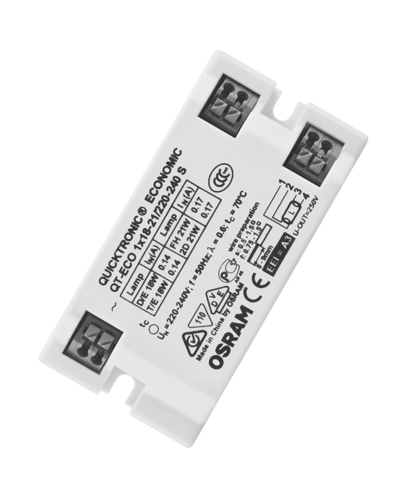 Osram QT-ECO 1x18-21/220-240 S QUICKTRONIC ECONOMIC | ECG for FL 7 mm and CFL