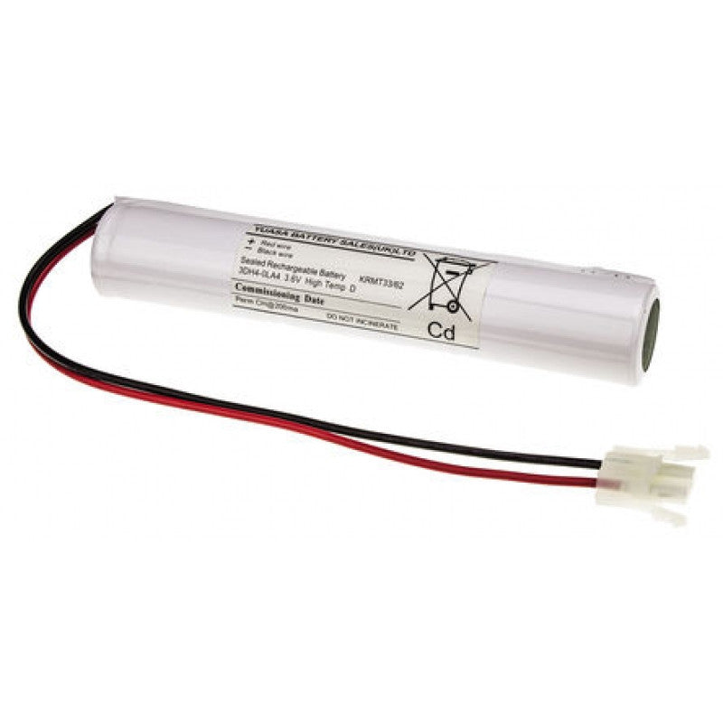 Yuasa 3DH4-0LA4 - Emergency Battery 3 Cell Stick with Leads & Amp