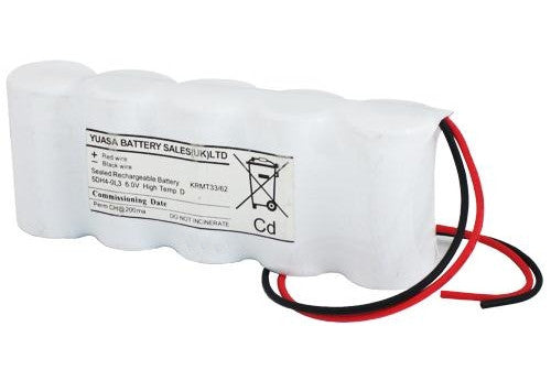 Yuasa 5DH4-0L3 - Emergency Battery 5 Cell Side by Side c/w Leads