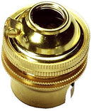 "05137 Ecofix BC Lampholder ½"" Unswitched Brass - Lampfix - sparks-warehouse"