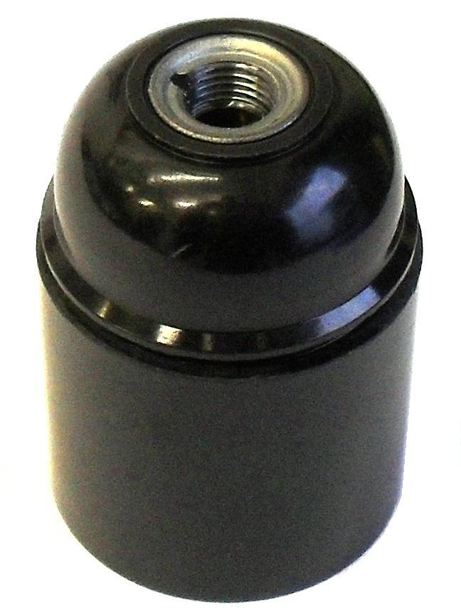 05983 Lampholder 10mm ES Smooth Skirt Black - LampFix - sparks-warehouse