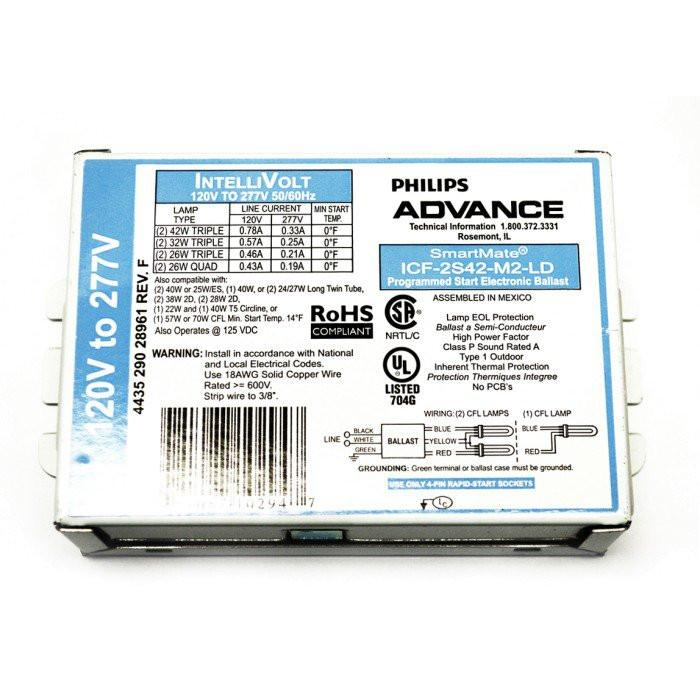 PHILIPS - ICF2S42M2LD-PH 120-277v Philips Advance Ballast 50/60Hz
