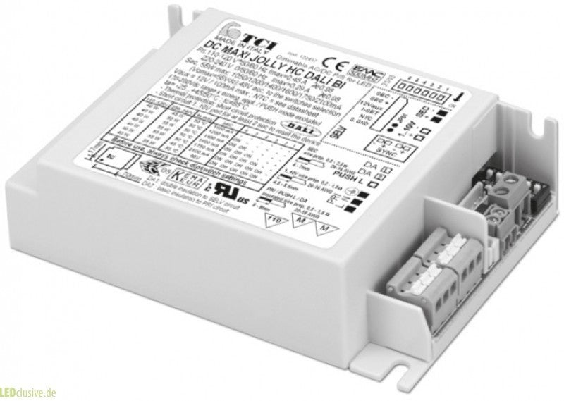 TCI 55w 1050ma MaxiJolly HC BI Dali Dimmable LED Driver (122417)
