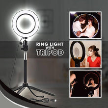 Load image into Gallery viewer, 6 Inch LED Ring Light Adjustable Tripod