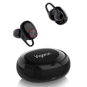 Vigorun Sport Bluetooth in Ear Headphones, Wireless Stereo Earbuds Bluetooth Portable Headsets Running Mini Earphones with Charging Box