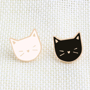 2 Pcs Set Cute Cat Brooch Pin Badge