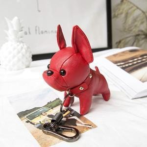 French Bulldog Pu Leather Keyring/ Bag Charm Trinket
