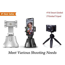 Load image into Gallery viewer, AI Smart Gimbal Personal Robot Cameraman - 360 Rotation & Auto Tracking Shootings