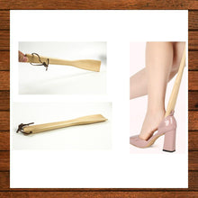 Load image into Gallery viewer, Long-Handled Wooden Shoe Horn