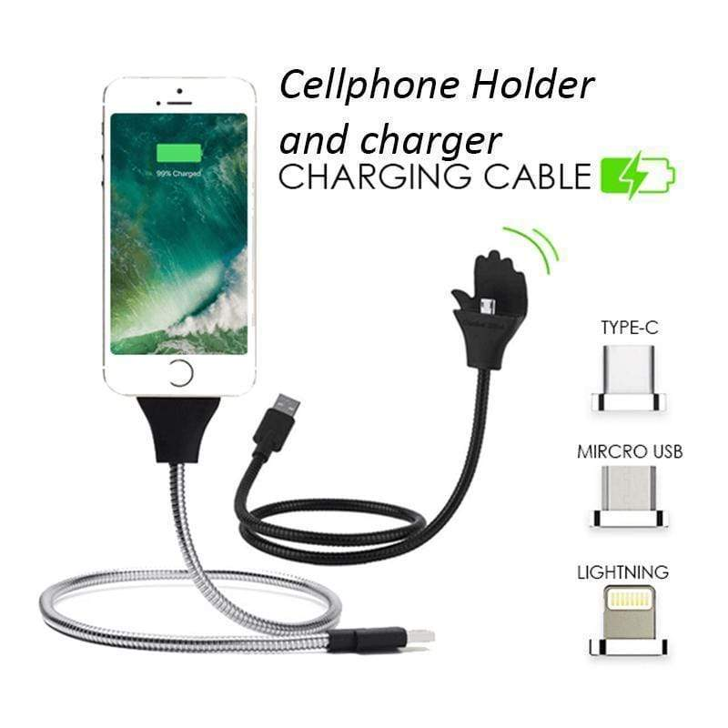 Lazy Charging Cable Stand