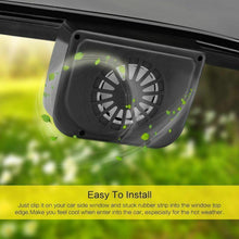 Load image into Gallery viewer, Vehicle Solar Powered Car Vent Window Fan