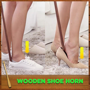 Long-Handled Wooden Shoe Horn