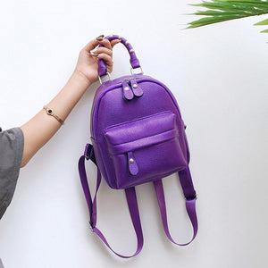 Mini Backpack PU Leather Travel Bag