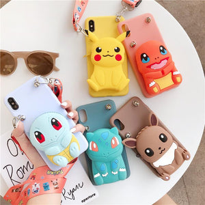 Doll Pouch Mobile Samsung Phone Case Lanyard Set For Samsung