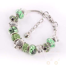 Load image into Gallery viewer, Green Beads Sea Turtle charm Bracelet