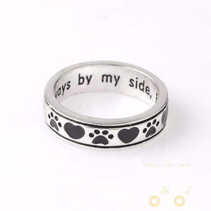 """Always by my side,Forever in my heart"" Dog Cat Paw print"