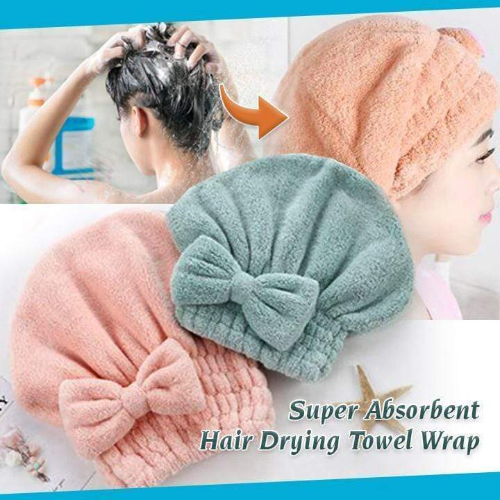 Super Absorbent Microfiber Hair Drying Towel Wrap