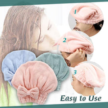 Load image into Gallery viewer, Super Absorbent Microfiber Hair Drying Towel Wrap