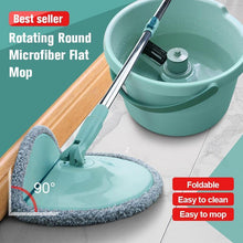 Load image into Gallery viewer, Rotating Round Microfiber Flat Mop