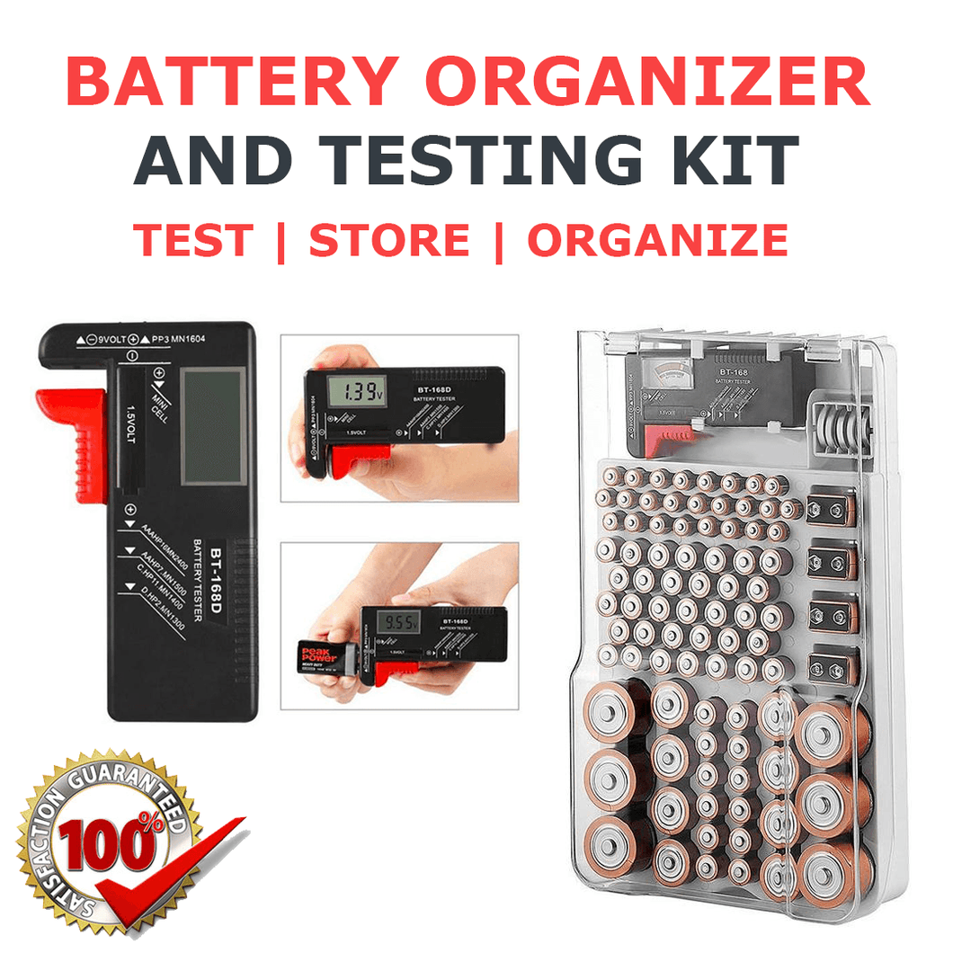 Battery Organizer and Testing Kit