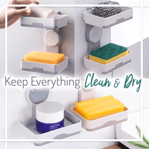2-Way Quick-Drying Adhesive Soap Holder