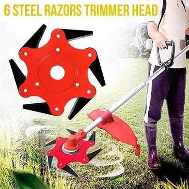 6 Steel Razors Trimmer Head (CLEAR STOCK NOW)
