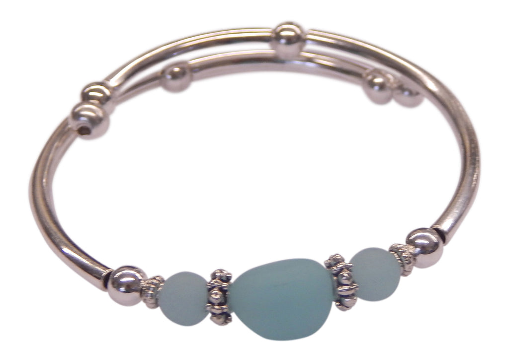 """Seafoam"" Seaglass Single<br>Wrap-Around Embracelet"