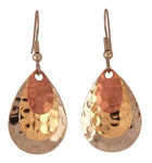 Fishing Lure Drop Style Earrings, 3-pc., Dimpled, Gold, Silver, Copper Tones