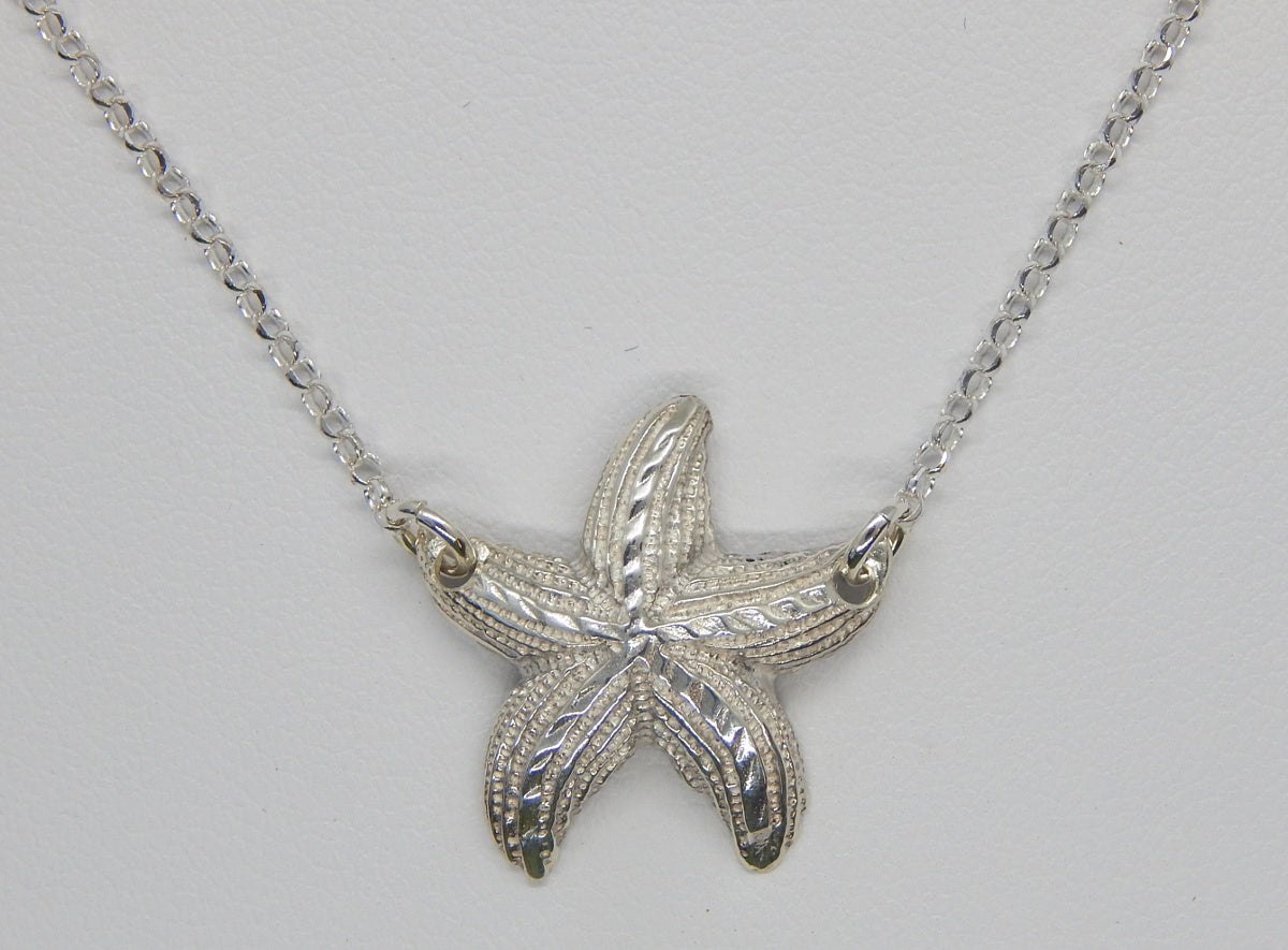 Sterling Silver Starfish Necklace<br>by Fishgirl Designs