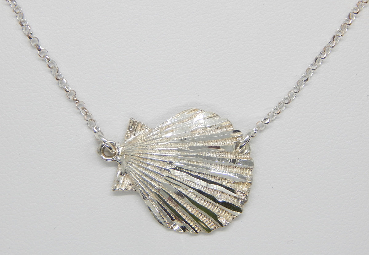 Sterling Silver Scallop Shell Necklace<br>by Fishgirl Designs