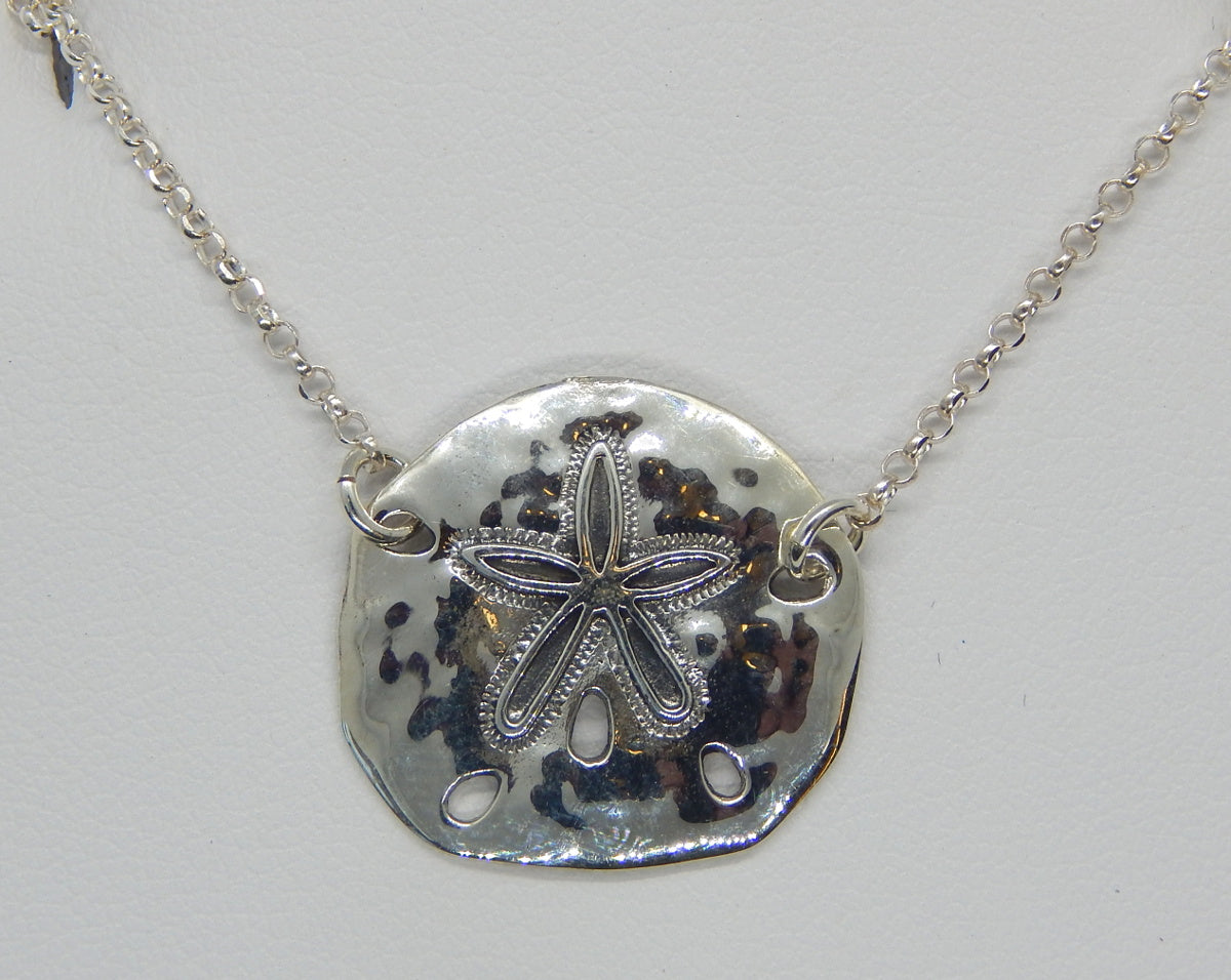 Sterling Silver Sand Dollar Necklace<br>by Fishgirl Designs