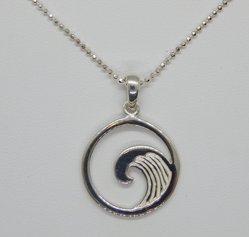 Sterling Silver Simple Wave Necklace<br>by Fishgirl Designs