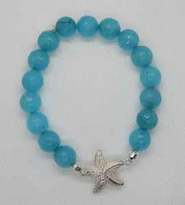 Sterling Silver Starfish Stretch Bracelet<br>by Fishgirl Designs