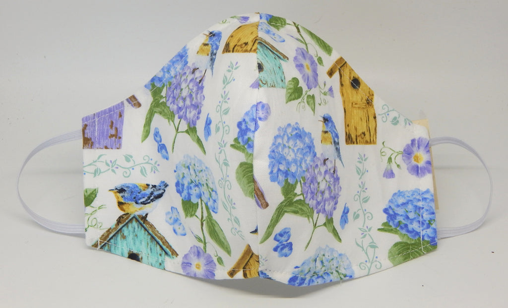 Hydrangea Birdhouse<br>COVID-19 Masks<br>Available in 2 Sizes