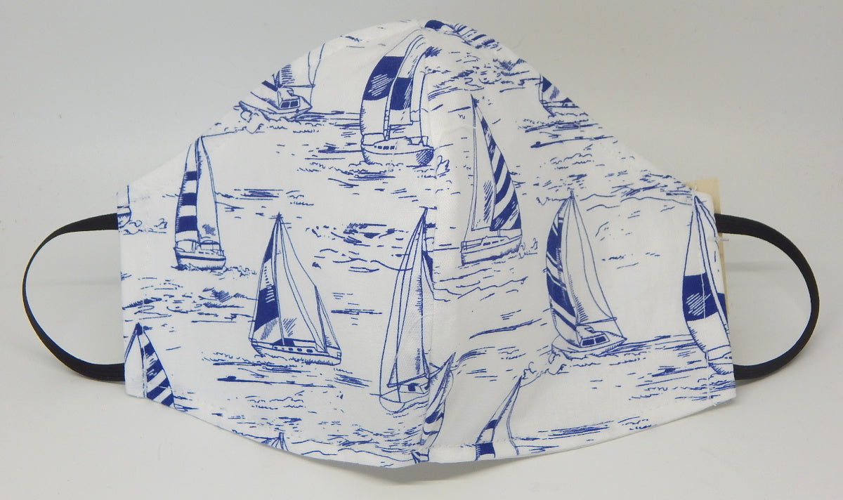 Sailboats<br>COVID-19 Masks<br>Available in 2 Sizes