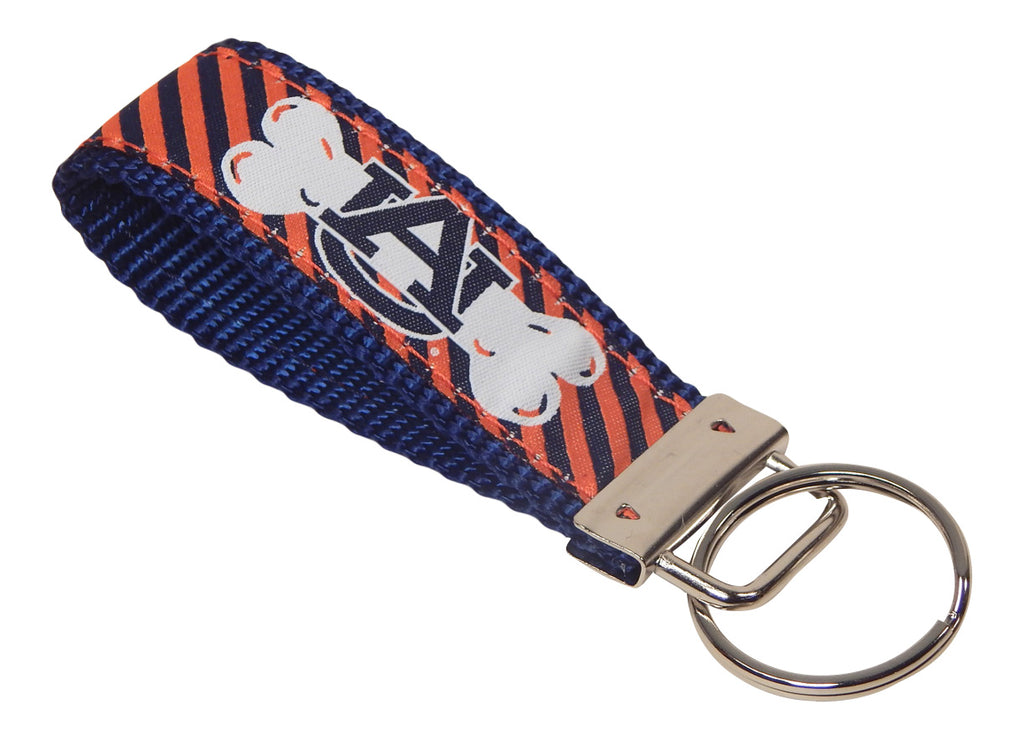 Auburn University Tigers, SEC Conference, NCAA, Classic Ribbon Key Ring