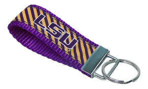 Louisiana State Tigers, SEC Conference, NCAA, Classic Ribbon Key Ring