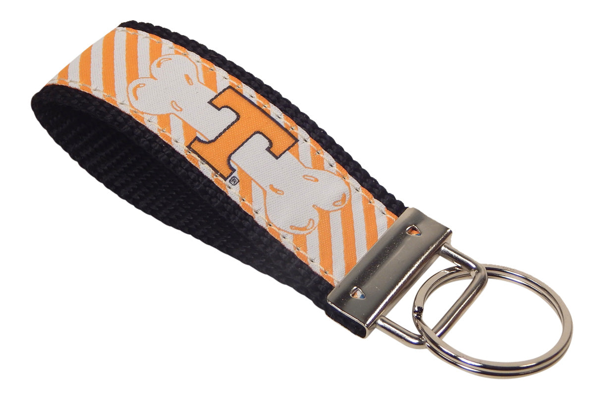 Tennessee University Volunteers, SEC Conference, NCAA, Classic Ribbon Key Ring