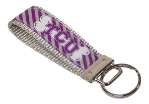 Texas Christian University Horned Frogs, BIG 12 Conference, NCAA, Classic Ribbon Key Ring