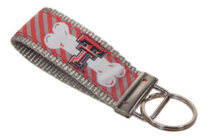 Texas Tech University Red Raiders, Big 12 Conference, NCAA, Classic Ribbon Key Ring