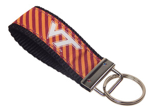Virginia Tech University Hokies, ACC Conference, NCAA, Classic Ribbon Key Ring